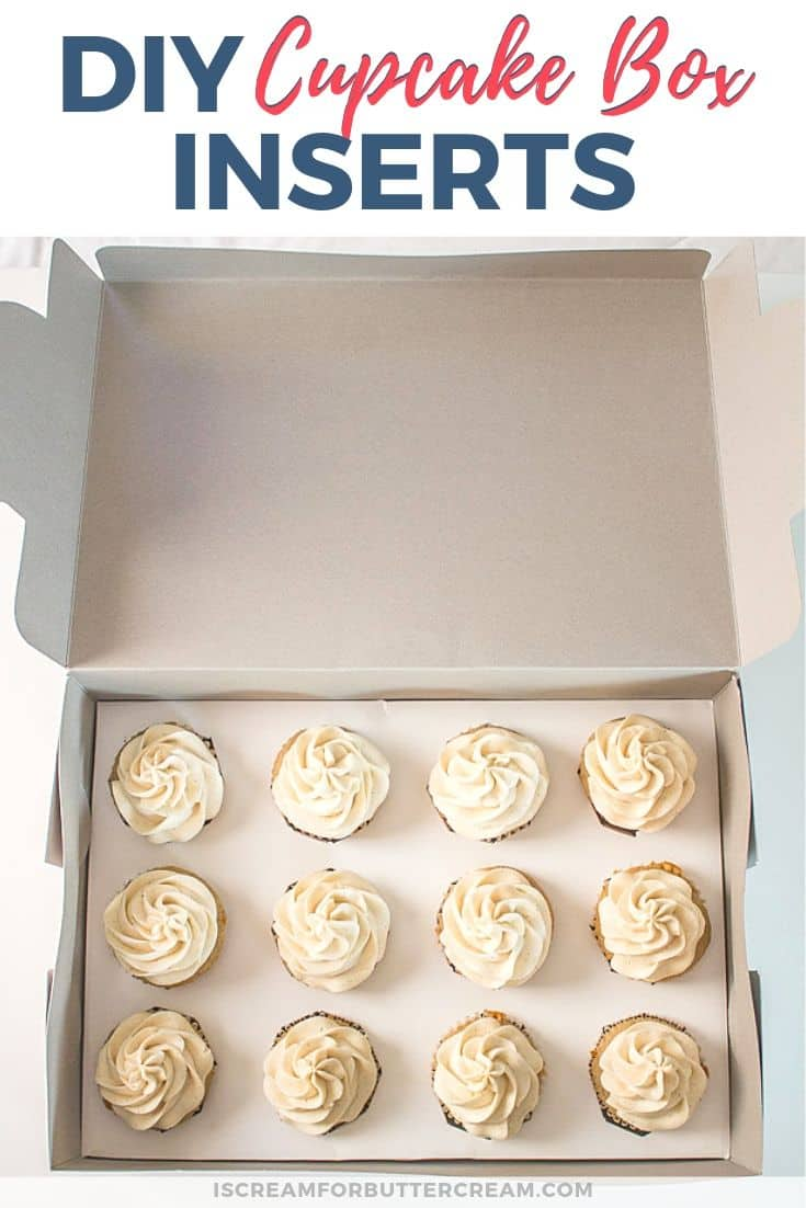 DIY Cupcake Box Inserts Pinterest Graphic 2
