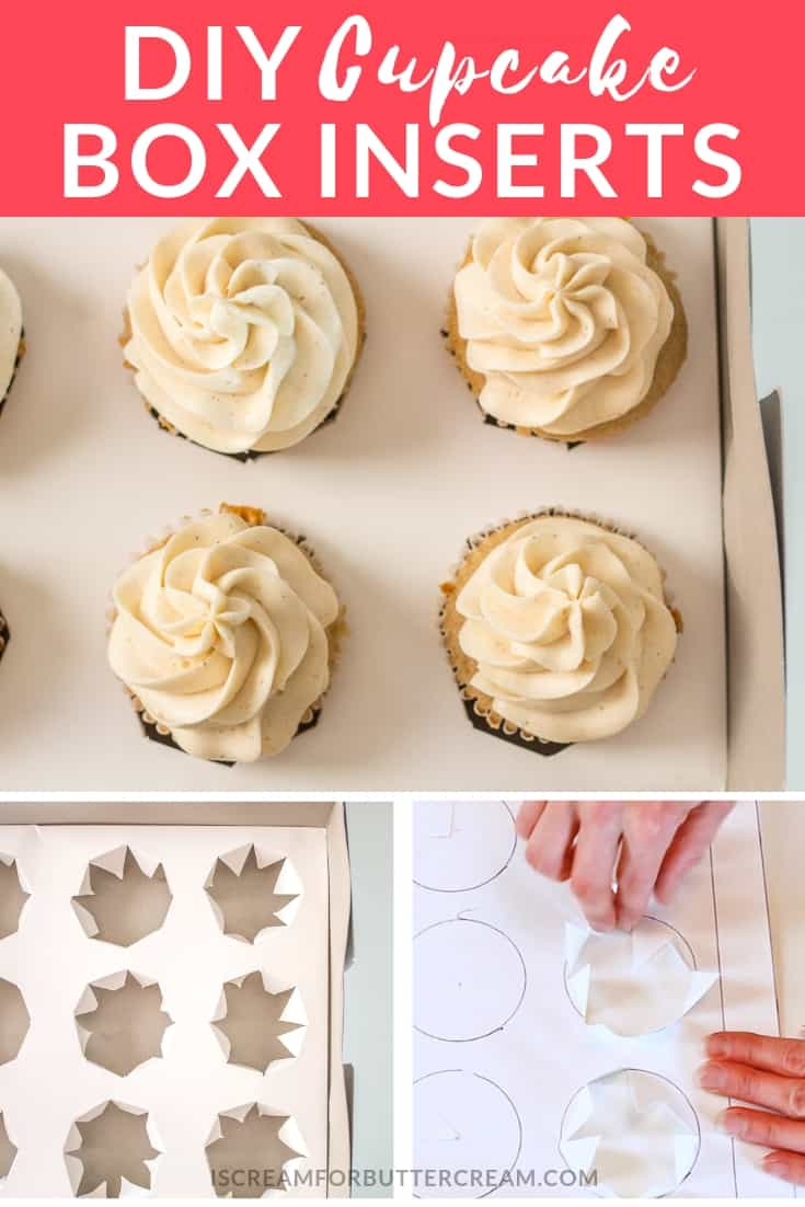 These DIY Cupcake Box Inserts are so easy to make. If you ever have trouble transporting cupcakes, these inserts will keep them from toppling over. They're cheap to make and you can virtually make your own cupcake box inserts to fit any box you have. #cupcakeboxinserts #bakinghacks #cakedecorating #cupcakebox