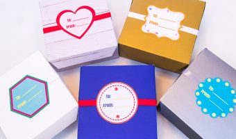DIY Treat Boxes with Printable Labels