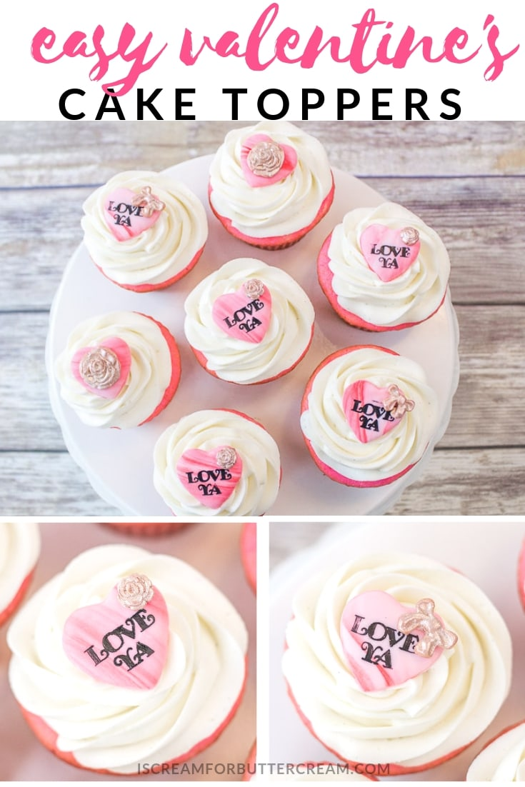 Easy Valentines Cake Topper Tutorial