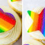 Rainbow Buttercream Cutouts