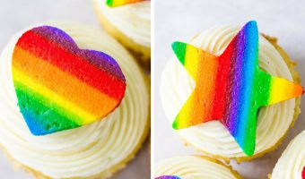 Rainbow Buttercream Cutouts