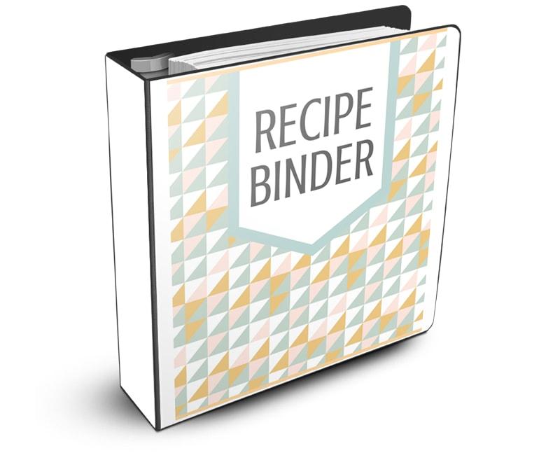 Free Recipe Binder Printable Notebook Graphic