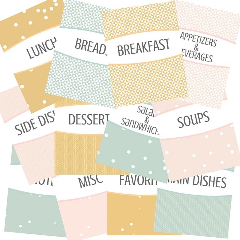 Free Recipe Binder Printables Recipe Coversheet Graphic