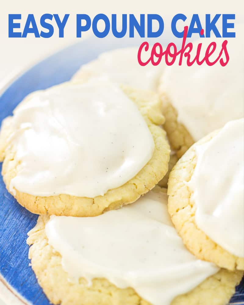 easy pound cake cookie post title graphic