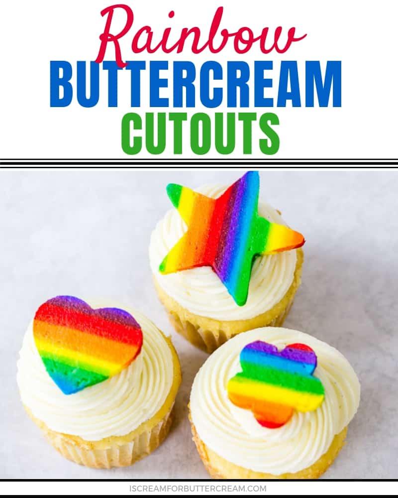 Rainbow Buttercream Cutouts Blog Title Graphic