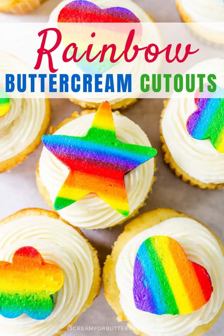 Rainbow Buttercream Cutouts Pinterest Graphic
