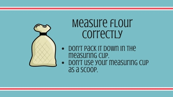 Measure flour correctly graphic