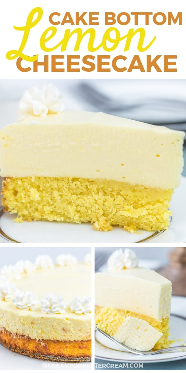 Cake Bottom Lemon Cheesecake Pinterest Graphic