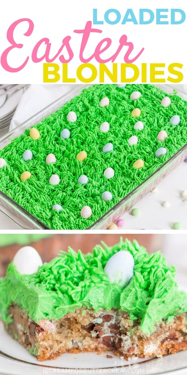 Loaded Easter Blondies Pinterest Graphic