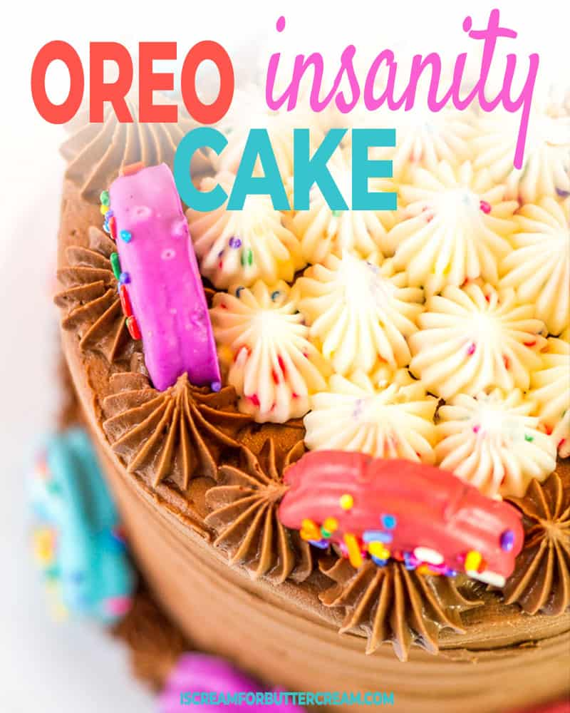 Oreo Insanity Cake Post Title Graphic