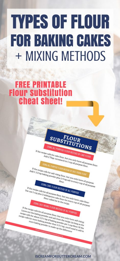 Types of Flour for Baking Cakes Pinterest Long Pin Graphic