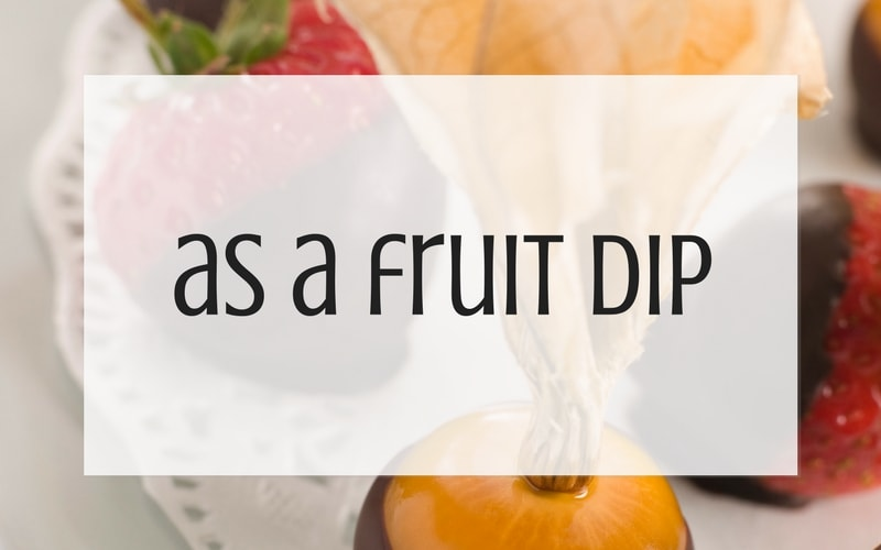 Use leftover buttercream as a fruit dip graphic
