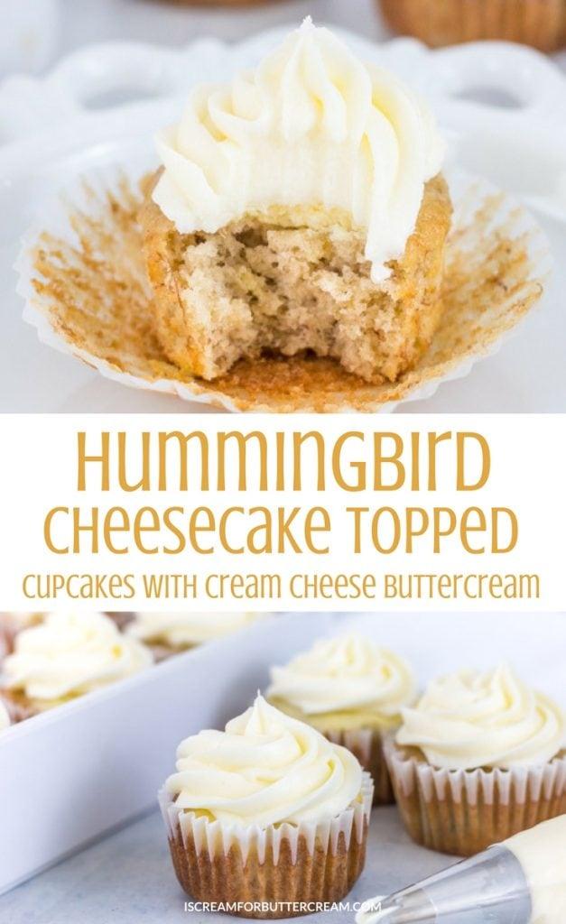 Hummingbird Cheesecake Topped Cupcakes Pinterest Graphic