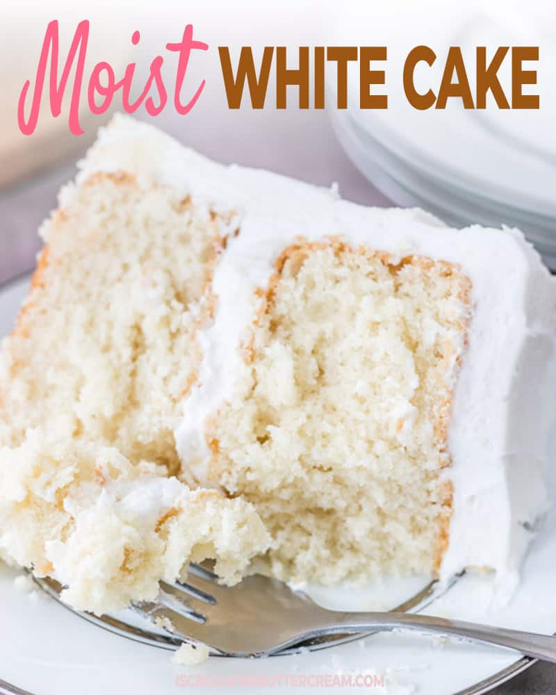 Moist White Cake Post Title Graphic