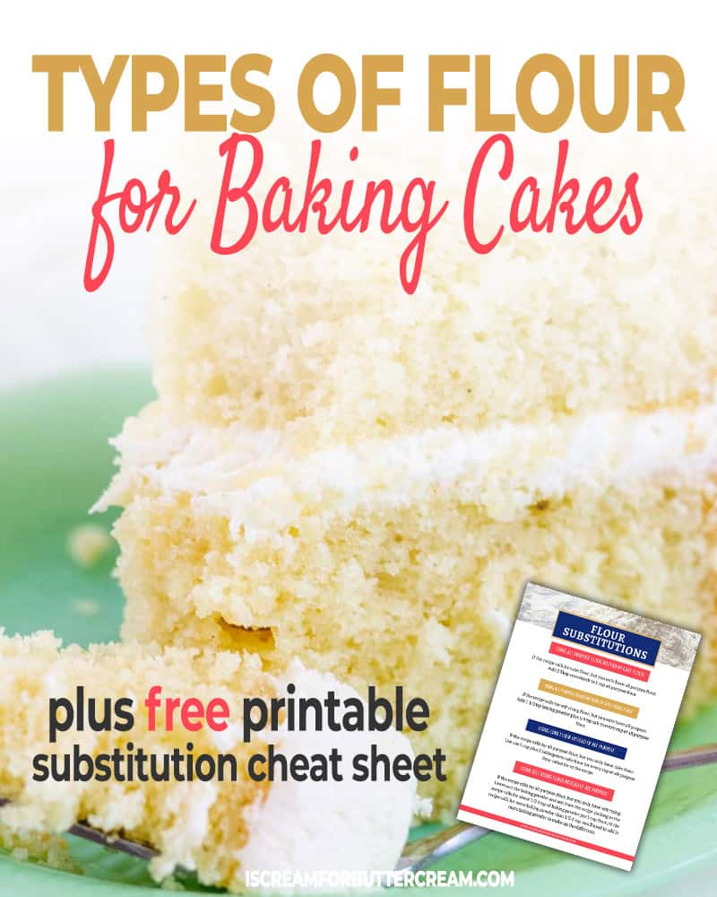 Types of Flour for Baking Cakes Blog Title Graphic