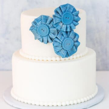 fondant ribbon flowers featured image