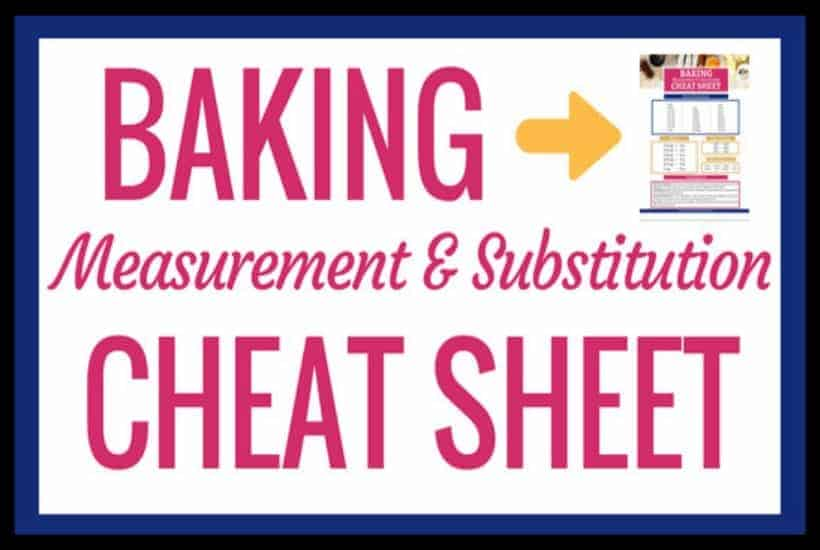 Baking Measurement Cheat Sheet featured image