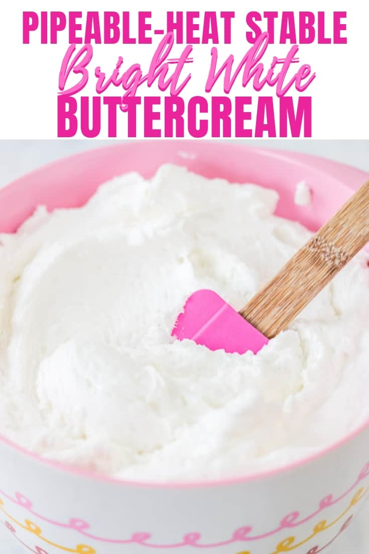 Bright White Heat Stable Buttercream New Pinterest Graphic New New