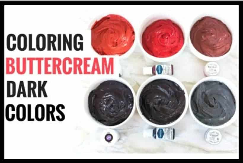 Coloring Buttercream Dark Colors Featured Image