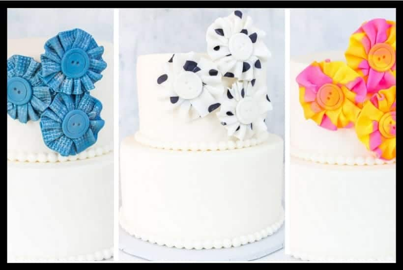 Fondant Fabric Look Flower featured image