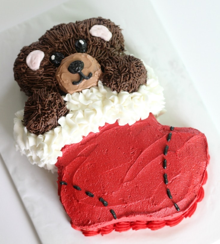 Teddy Bear Christmas Cake
