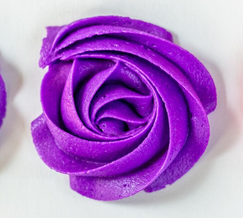Purple buttercream large rose rosette