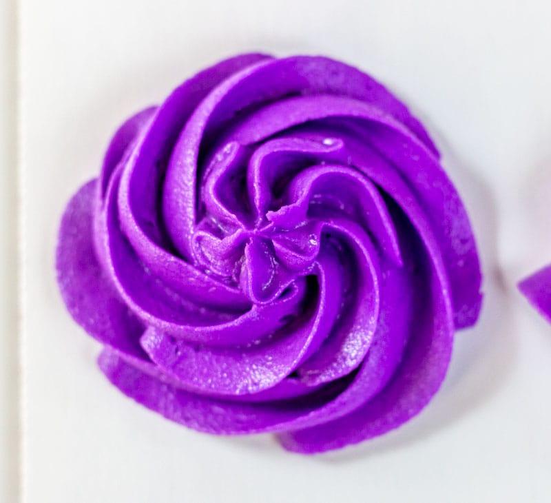 Purple buttercream rosette
