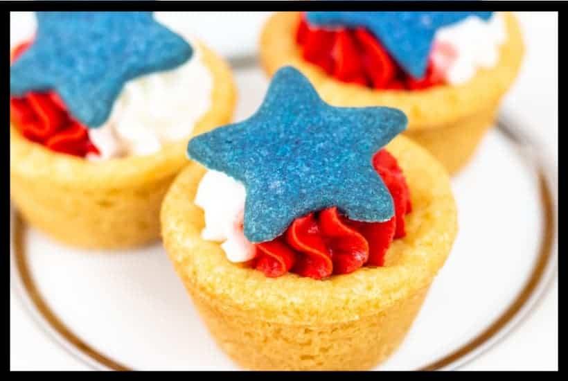 Patriotic Cookie Cups Featured Image