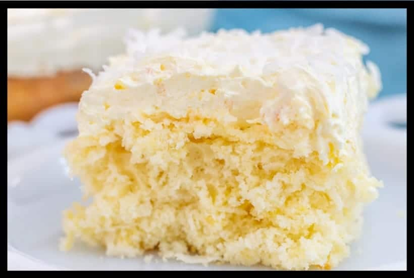 Pina Colada Cake Bar Featured Image