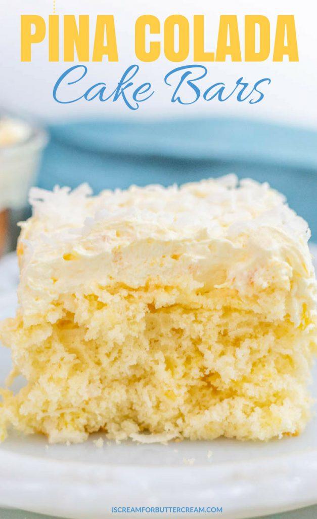 Pina Colada Cake Bars Pinterest