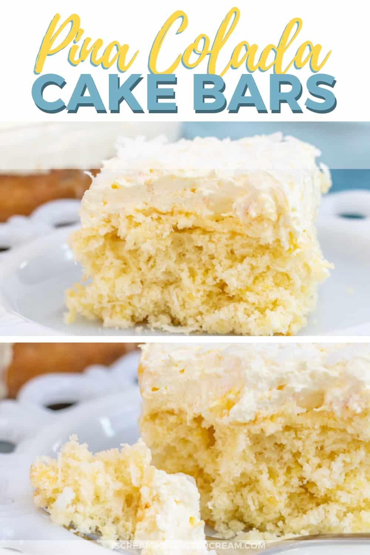 Pina Colada Cream Cheese Cake Bars New Pinterest Graphic 1