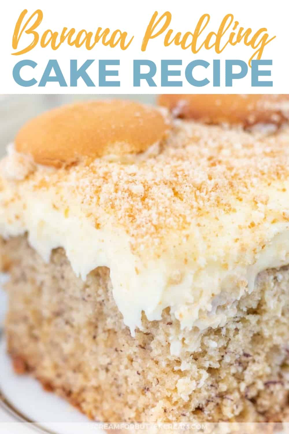 Banana Pudding Cake New Pinterest Graphic 2