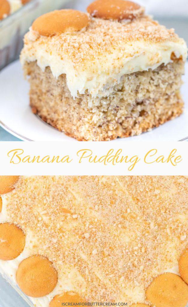 Banana Pudding Cake Pinterest Graphic