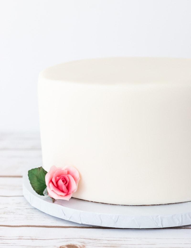 Fondant covered cake