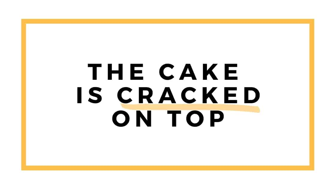 cake is cracked graphic
