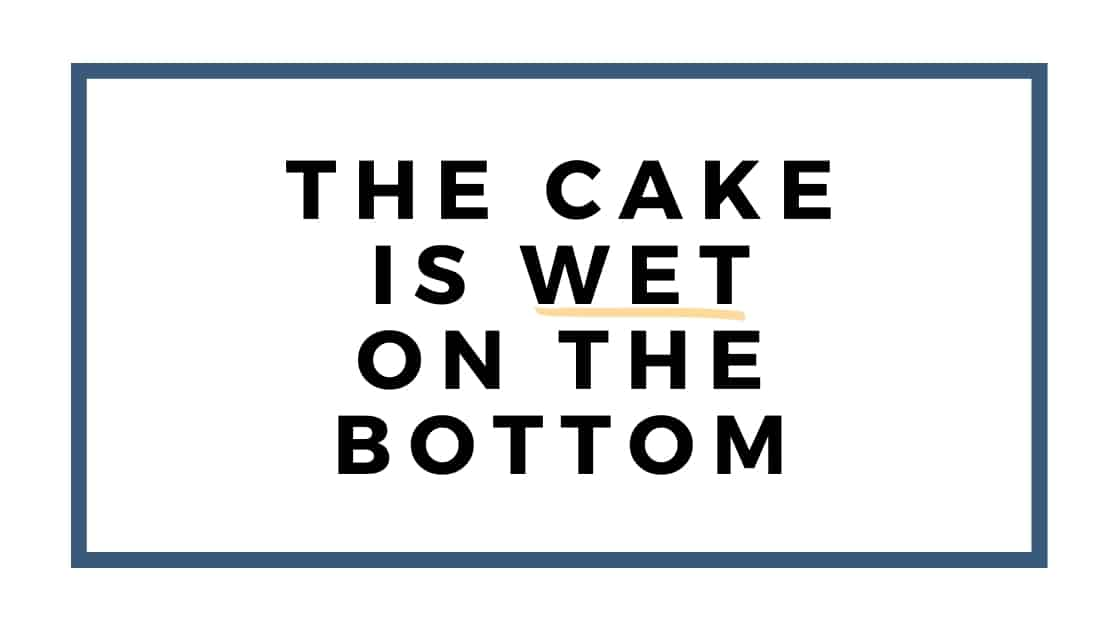 cake is wet graphic