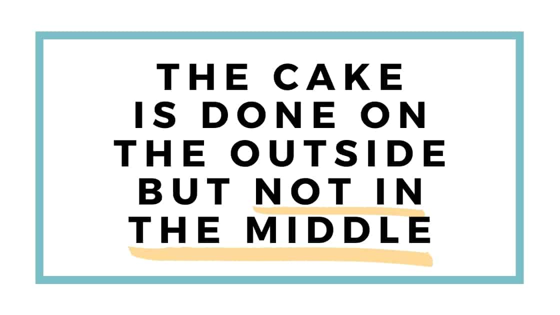 cake is done on outside graphic