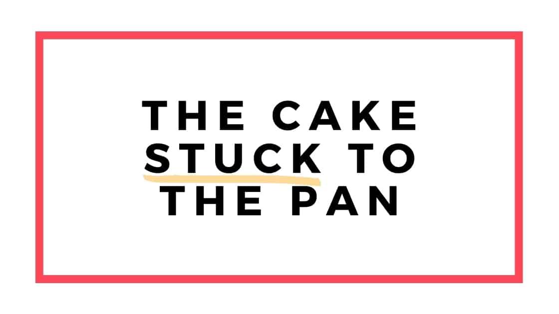 cake stuck to pan graphic