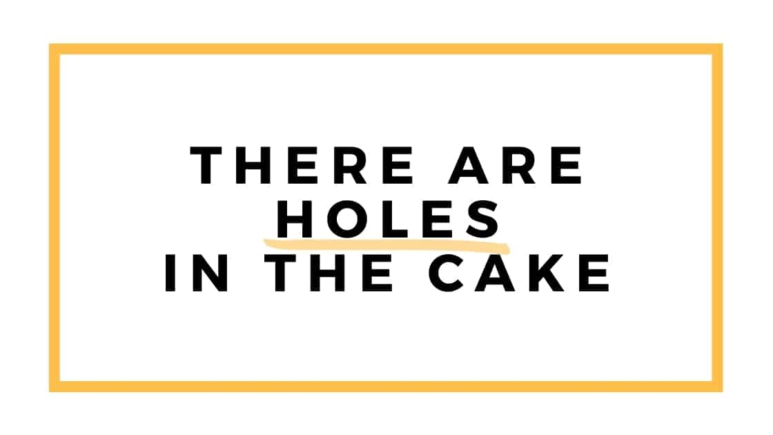 holes in the cake graphic