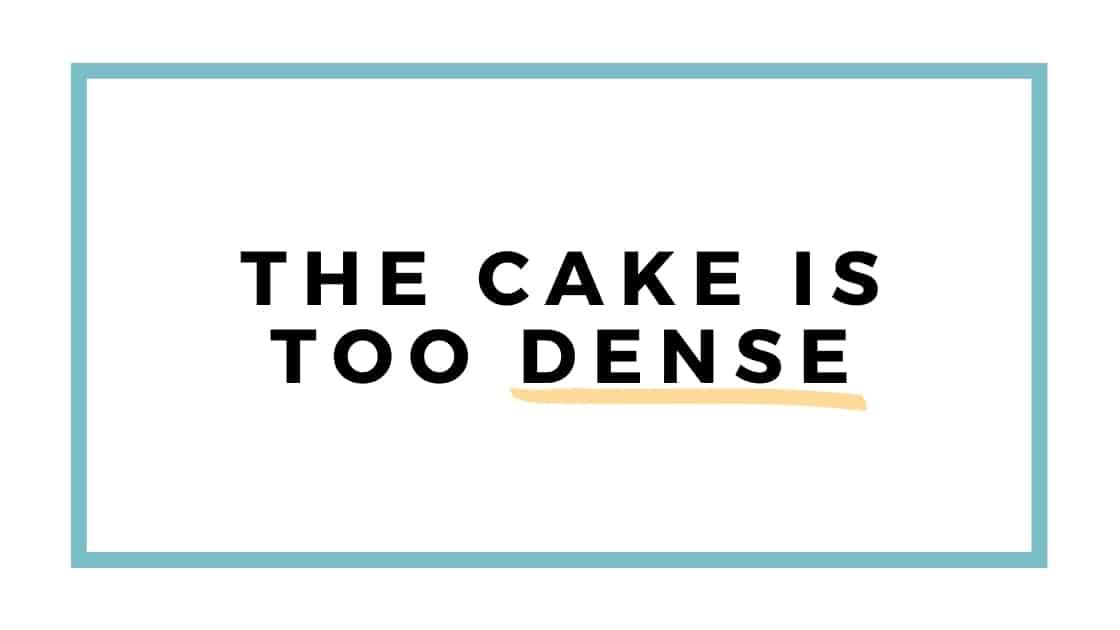 cake is dense graphic
