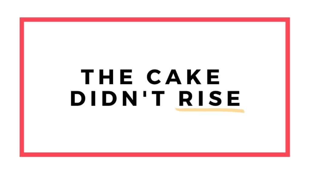 cake didn't rise graphic