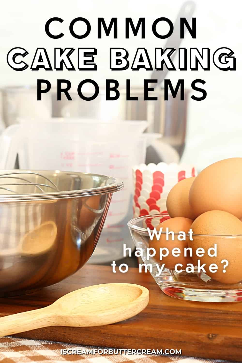 common baking problems pin graphic