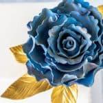 Ruffled Rose Gumpaste Fantasy Flower