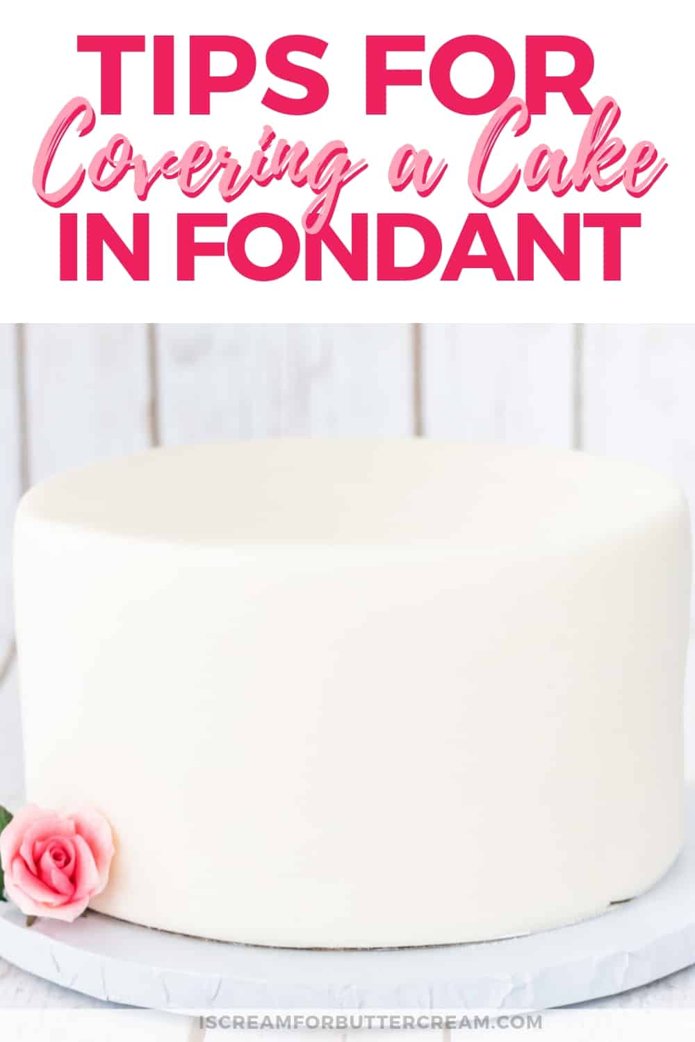 Tips for Covering a Cake in Fondant New Pin Graphic 2
