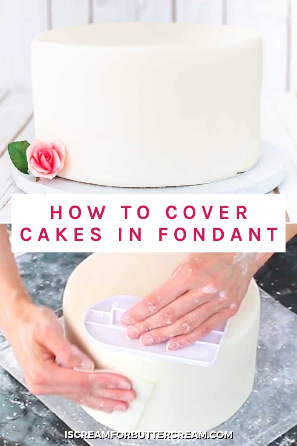 smoothing fondant with text overlay pin image