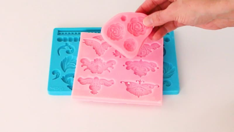 rose mold for bas relief cake