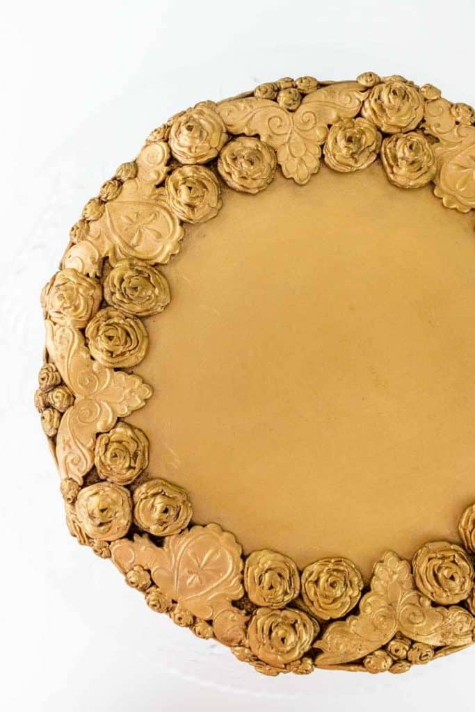 Antiqued Bas Relief Cake top view