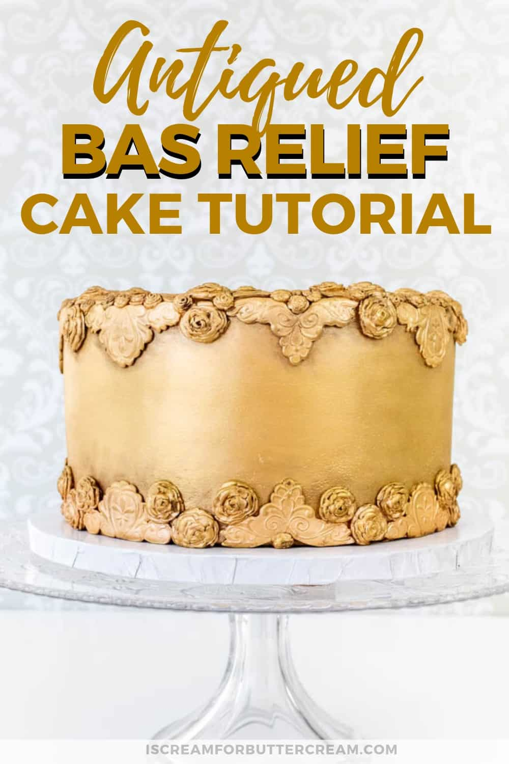 Antiqued Bas Relief Cake New Pin 1