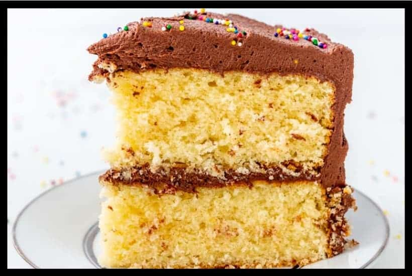 Classic Yellow Cake with Fudge Frosting Featured Image